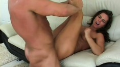 Naomi is desperate to seduce and nail well-endowed stallion Lee