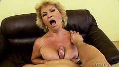 She gets that cock between her tits before her wet snatch happily embraces it