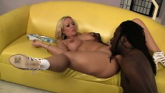 Curvaceous blonde Austin Taylor is in need of a black cock in her twat