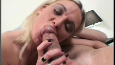 Blonde British vixen gets her posh cunt nailed by a solid wang