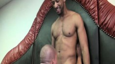 Lustful Latino getting his needy ass drilled rough by a hung black man