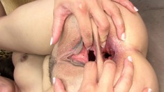 Busty Poppy Morgan has a black stallion deeply drilling her anal hole