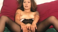 Sex-starved Izumi spreads her legs and lets you look at her cunt