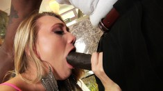 AJ Applegate eats his big black meat and gets her cunny pumped hard