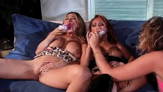 Lustful And Lonely Housewives Indulge In An Intense Lesbian Threesome
