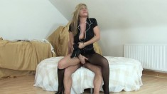 Horny Wife In Stockings Louise Parker Gets Her Twat Licked And Fucked