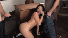 Satine Phoenix reveals her oral skills and feeds her lust for hot piss