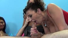 Sexy Sara Jay, Tinslee Reagan and Lila Jordan in a titillating foursome
