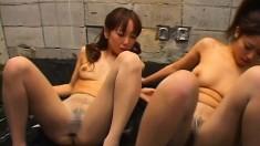 Sakura Sakurada And Azusa Are Playing With Each Others
