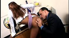 Lovely Black Girl Has A Huge Black Dick Punishing Her Tight Holes