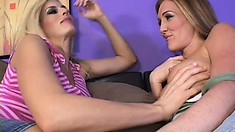 Two lustful housewives provide to each other the pleasure they desire
