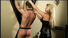 Bootylicious dominatrix Nicolette Reigns does whatever she wants with her guy