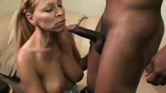 Big black dick gives naughty mommy Nicole Moore a huge cumshot