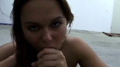 Genteel doxy with small natural tits gets finger in puss and dick in mouth