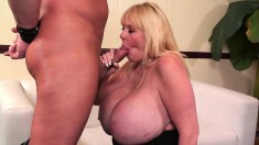 Kayla's massive hooters jiggle with every stroke of cock in her pussy