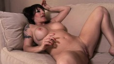 June Summers loves pussy and these big tit lesbians slurp it up