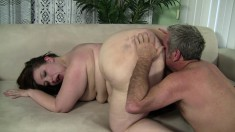Big fat Cherie gets that huge body fucked so hard she cries out