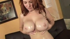 Big tit redhead Rebecca Lane is all the woman a man can handle