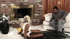 Cheerleader Gives Him A Cheer And He Gives Her A Dick To Eat And Fuck