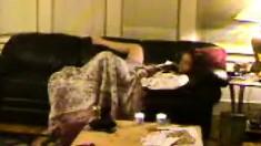 Cute brunette amateur masturbates via web cam