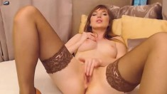Ginger touching and stripping Which body that is amazing