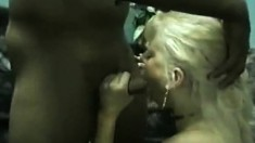 Hot milf blonde into some interracial sex action