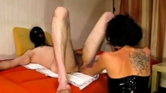 Fetish Glam Lesbian Bitch Uses Strapon