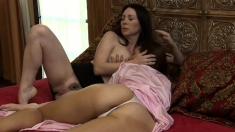 Brunette With Big Boobs And Hairy Vagina