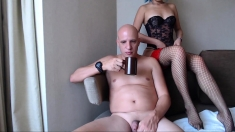 Dirty Asian MILF poses on webcam