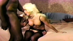 Interracial Blowjob By A Busty And A Horny Black Bitch