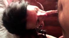 Girl Gives Husband Blowjob