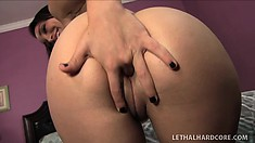 Enormously sexy tart with yummy cunt Gabriella gets it in her puss