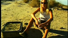 Naughty blonde needs to taste her lesbian lover's addictive muff