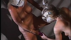 Finding something titillating to do for these horny lesbo blonde MILFs is no problem