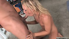 Ally Kay is a fun loving blond who gets to ride Toni Ribas cock