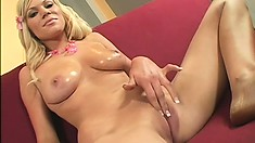 Cutie co-ed Sasha gets her mouth and pussy filled with yummy cock