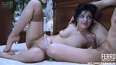Lusty Inessa begs her boyfriend Morris to fuck her brains out