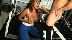 Ava Devine gets horny while working out and bangs her trainer