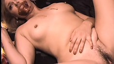 Messy blowjob with hot chocolate gets followed with some anal sex