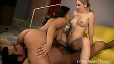 Cindy Loo seduced by an older couple and gets introduced to a hot threesome